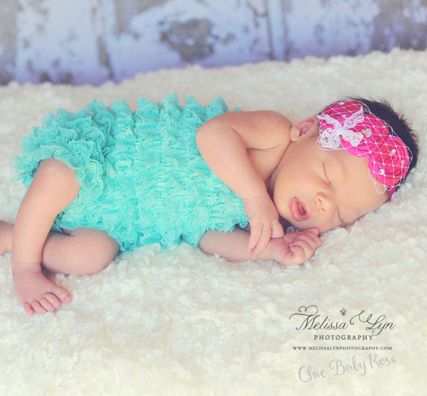 Newborn Lace Petti Romper - Select Colors 50% Off