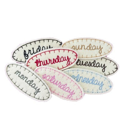 Days of the Week Hair Clip Set
