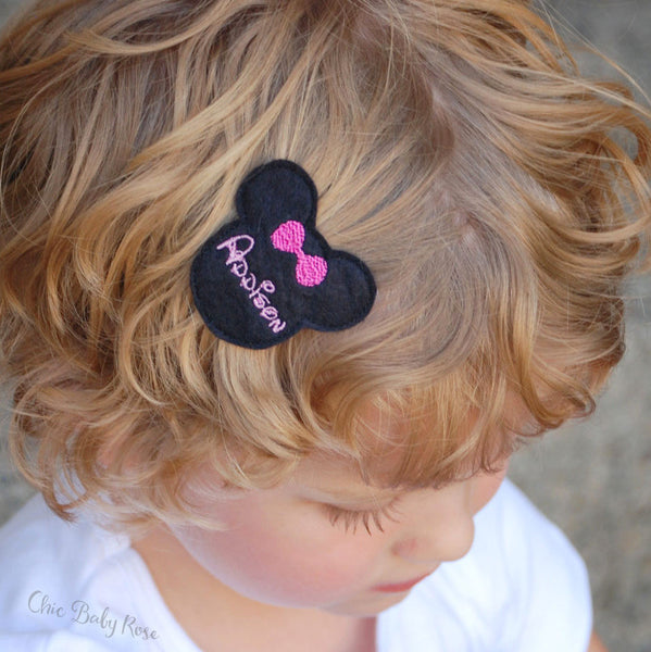 Personalized Mouse Hair Clip