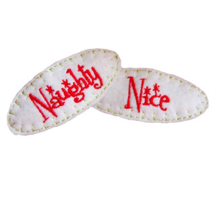 Naughty & Nice Hair Clips