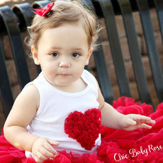 Fluffy Heart Top Available in 21 Colors