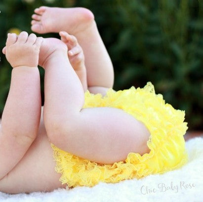 Frilly Toddler Lace Bloomer Available in 16 Colors