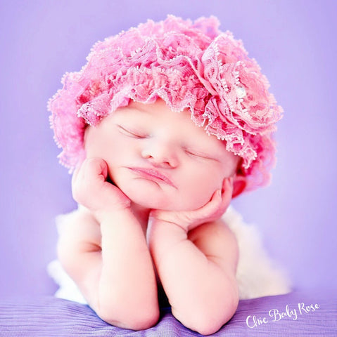 Lace Beanie - Newborn  Available in 21 Colors