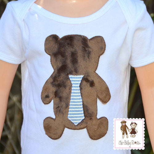 Mr. Fuzz E. Bear Boys Top