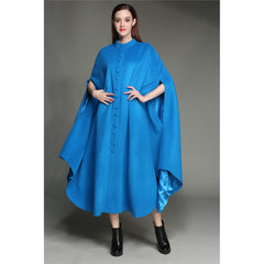 maxi coat dress,100% wool