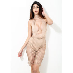 Nude Illusion Party Dress