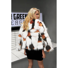 Long Sleeve Fluffy Faux Fur Coat
