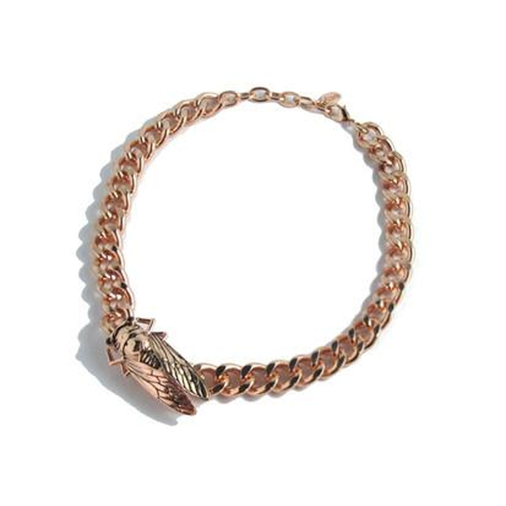 Izoa Beetle Necklace Rose Gold