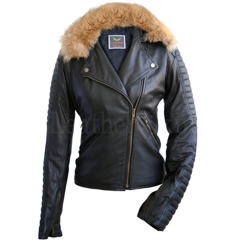 Fox Fur Leather Jacket