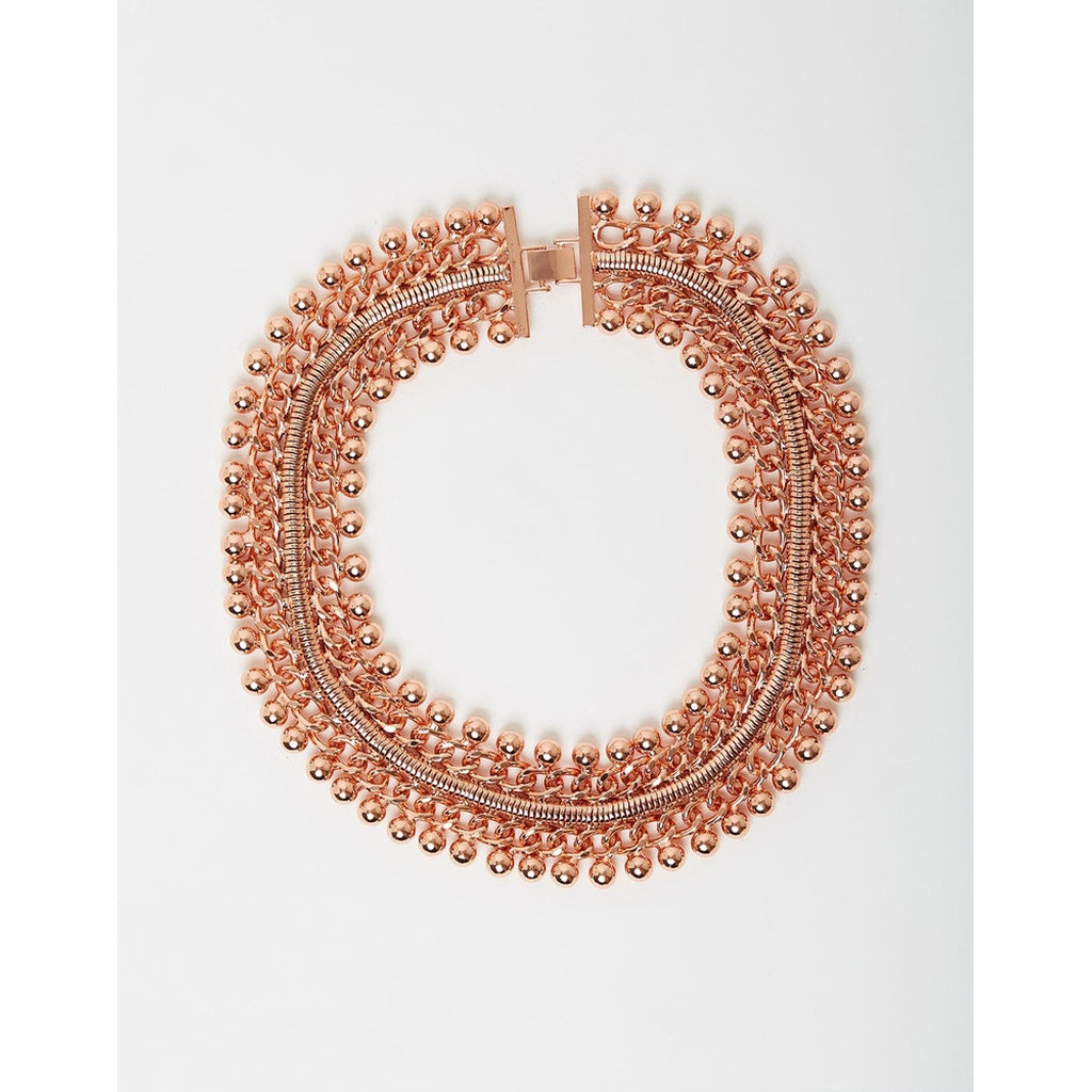 Freesia Collar Necklace Rose Gold