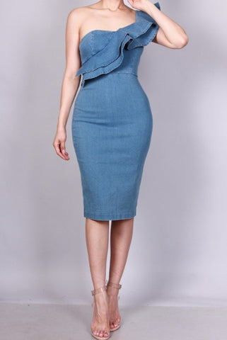 Margot denim dress