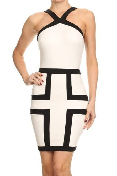 Nancy color block dress