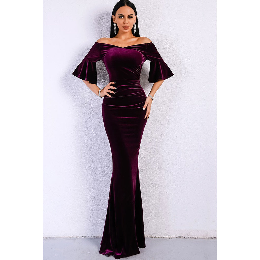Purple Velvet Gown