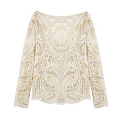Hollow Out Crochet Lace Blouse