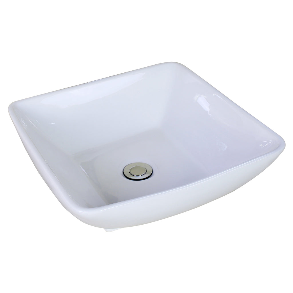 American Imaginations Above Counter Square Vessel Bathroom Sink