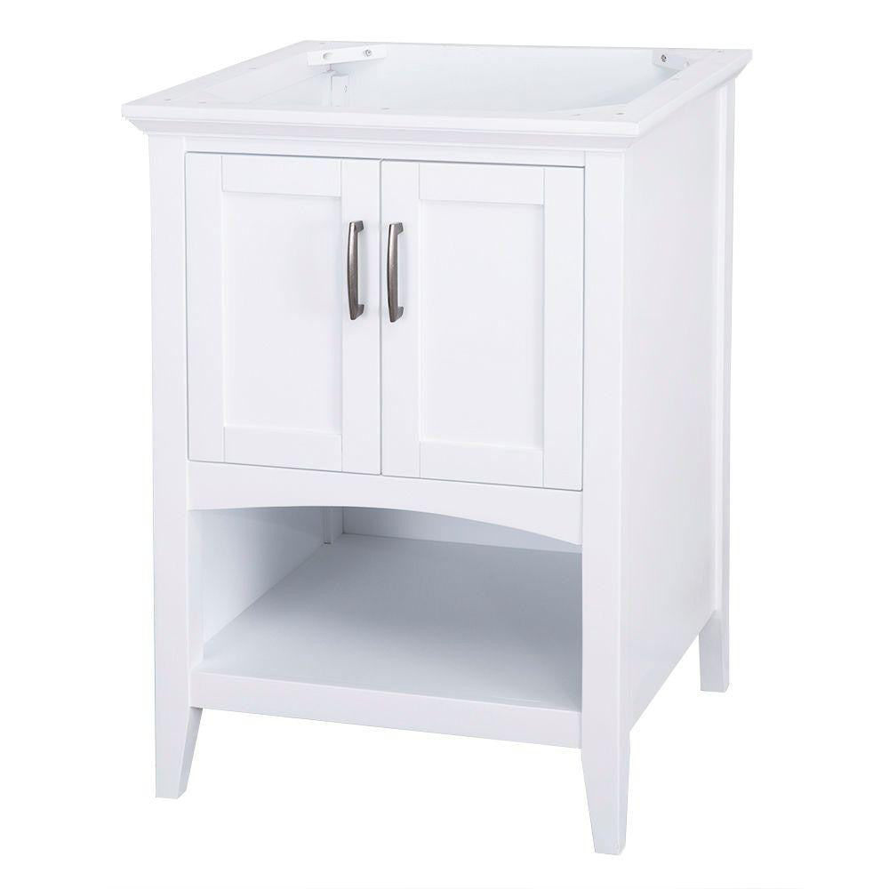 Home Decorators Collection Brattleby 24 in. Vanity Cabinet Only in White