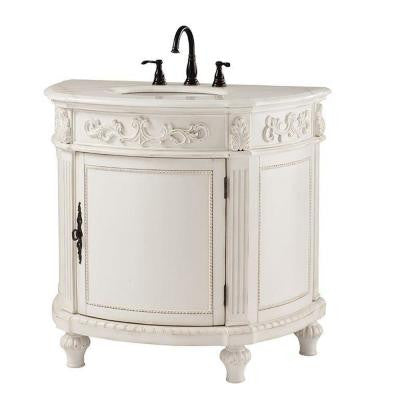 Home Decorators Collection Chelsea 37 in. Vanity in Antique White