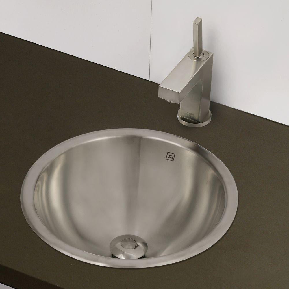 Decolav 15 Simply Stainless Drop In Round Stainless Steel Vessel Sink Dream Home Supply Ltd