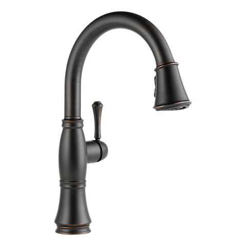 Delta Cassidy Single-Handle Pull-Down Sprayer Kitchen Faucet in Venetian Bronze
