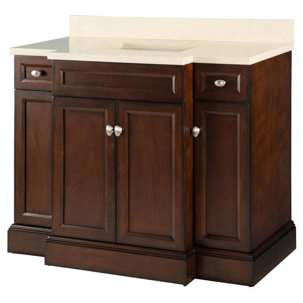 Foremost Teagen 42 in. Vanity in Dark Espresso