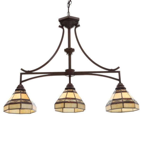 Hampton Bay Addison 3-Light Oil Rubbed Bronze Kitchen Island Light
