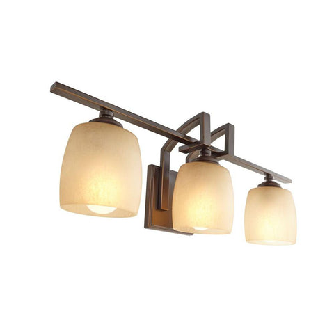 Hampton Bay 3-Light Bronze Bathroom Vanity Light