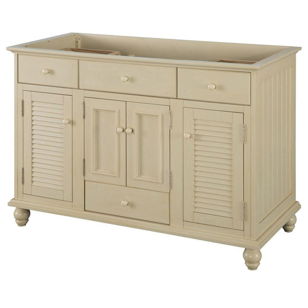 Home Decorators Collection Cottage 48 in. Vanity Cabinet Only in Antique White