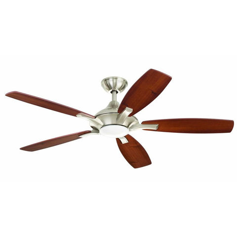 Home Decorators Collection Petersford 52 in. LED Brushed Nickel Ceiling Fan