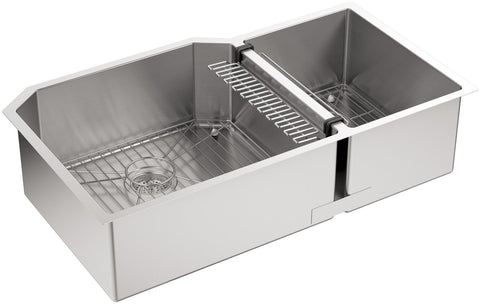KOHLER Strive Undermount Double-Bowl Kitchen Sink 16-Gauge Stainless Steel