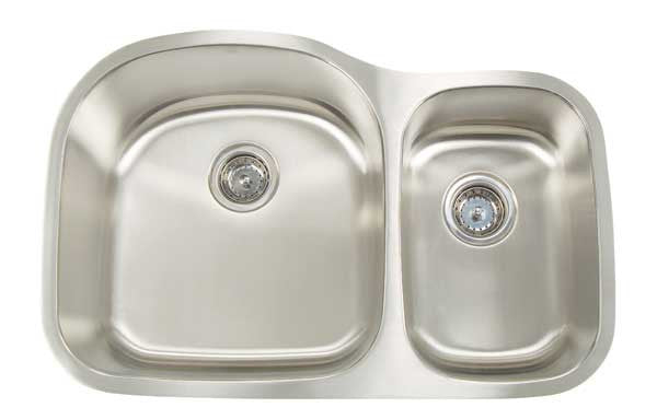Artisan Double Bowl Undermount Kitchen Sink Stainless Steel