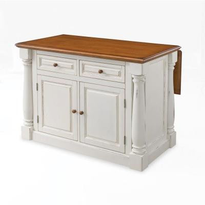 Home Styles Monarch Kitchen Island in White