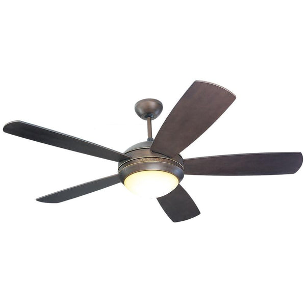 Monte Carlo Discus 52 in. Roman Bronze Ceiling Fan
