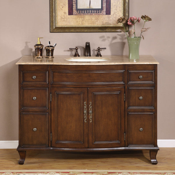 Silkroad Exclusive Ostia 48'' Single Bathroom Vanity