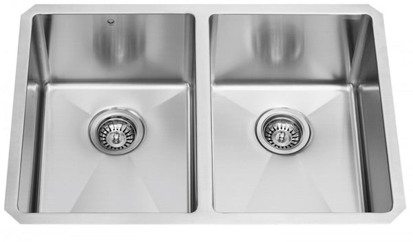 Vigo Undermount Stainless Steel 29 in. Double Bowl Kitchen Sink