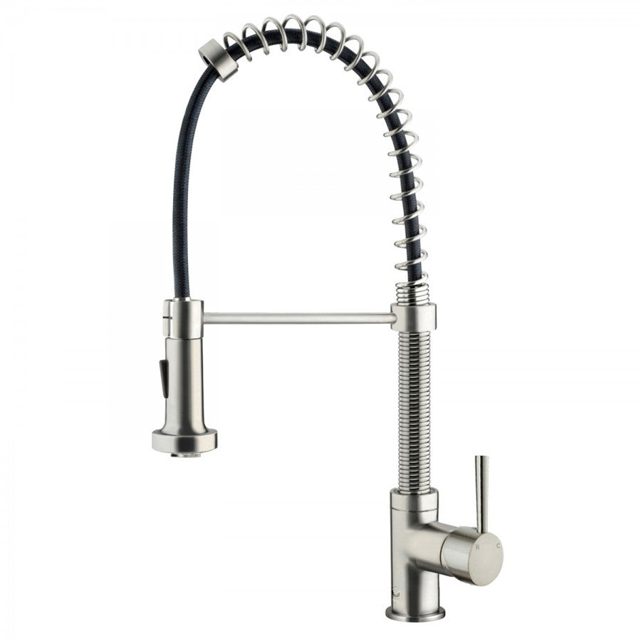 Home Hardware Kitchen Faucets Part - 27: Vigo Edison Stainless Steel Pull-Down Spray Kitchen Faucet