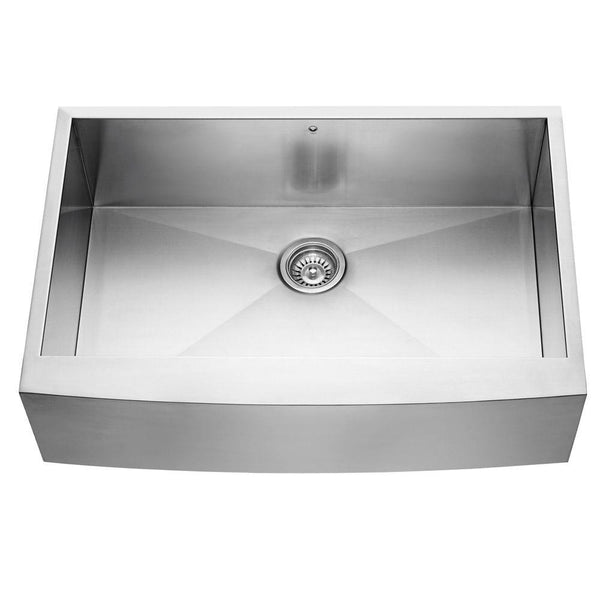 Vigo Undermount Farmhouse Apron Front 33 in. Single Bowl Kitchen Sink in Stainless Steel