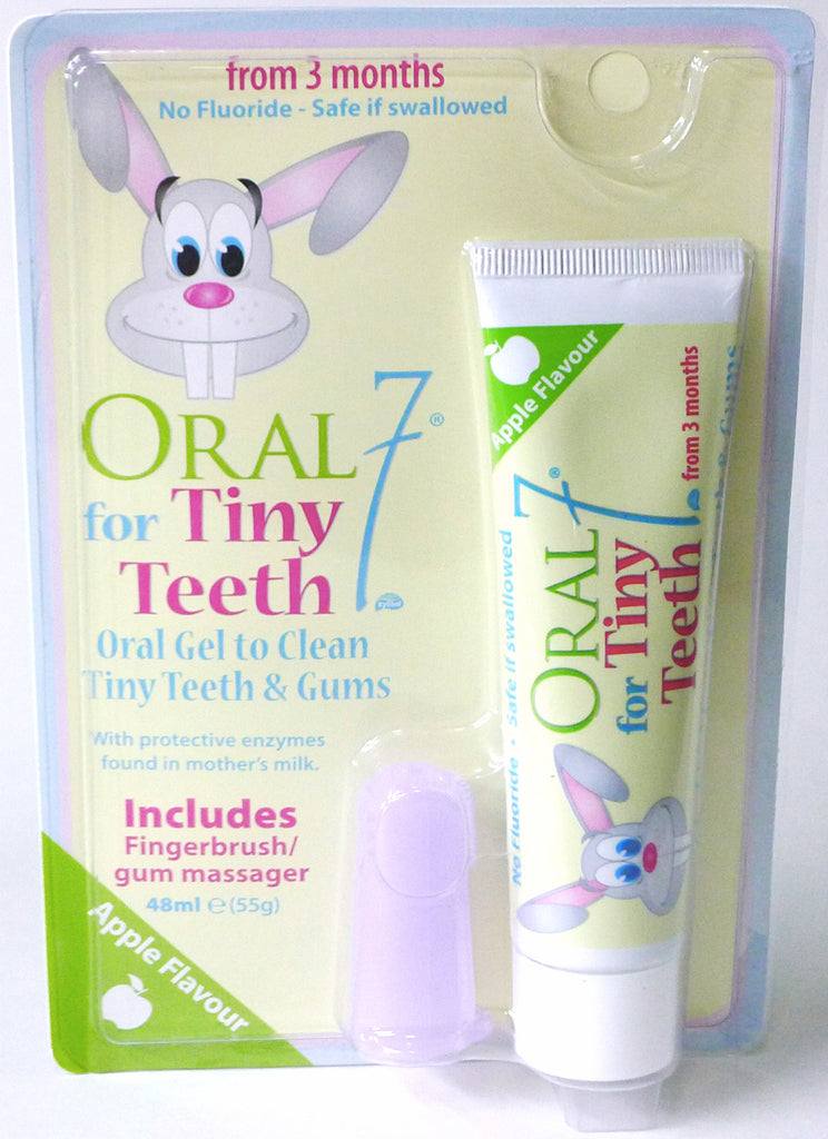 Oral7® for Tiny Teeth Gel with finger brush, 1.6 oz. (48mL)