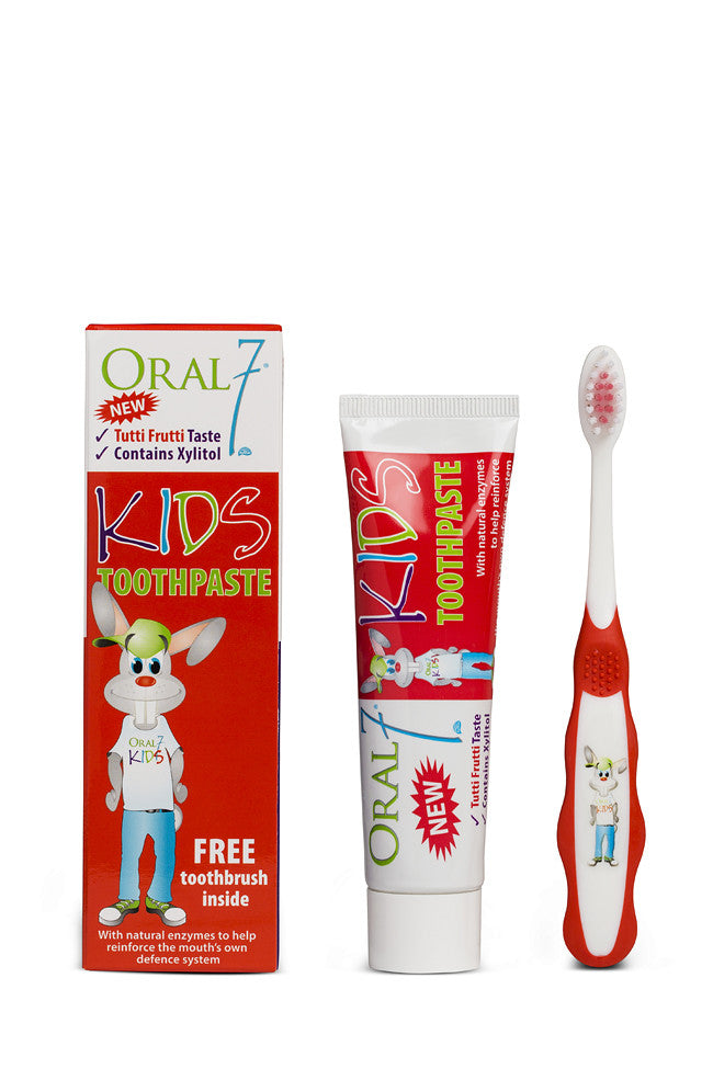 Oral7® Kids Toothpaste, with FREE Toothbrush, 1.7oz (50mL)