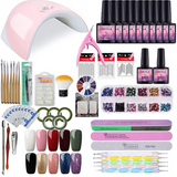 Gel Nail Polish Starter Kit with 36W Nail Light Manicure Tools UV Gel Polish 10 Colors