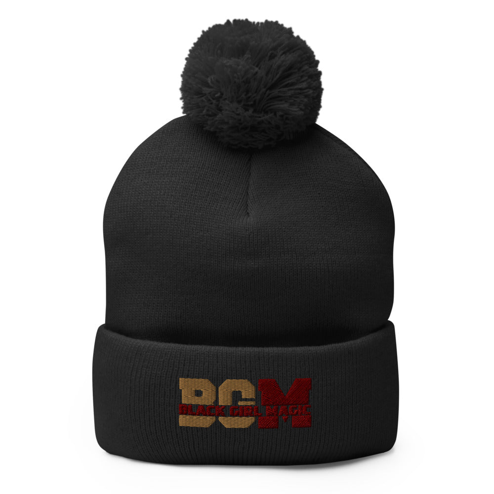 Black Girl Magic  Pom-Pom Beanie