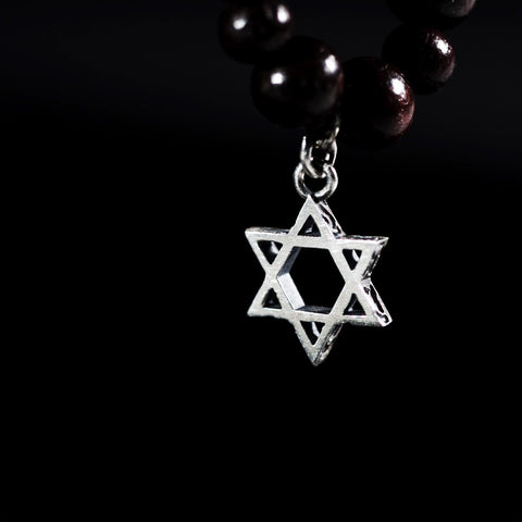 Double Star of David sterling silver pendant