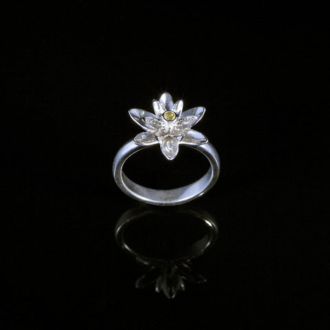 Gift of Enlightenment Lotus Flower Ring Yellow