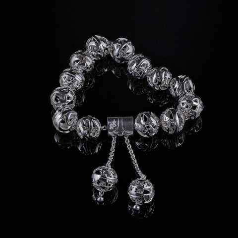 Galaxy sterling silver ball bracelet
