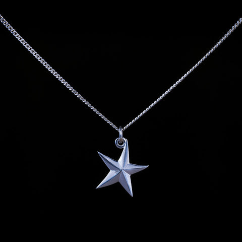 Constellation is a sterling silver and diamond pendant