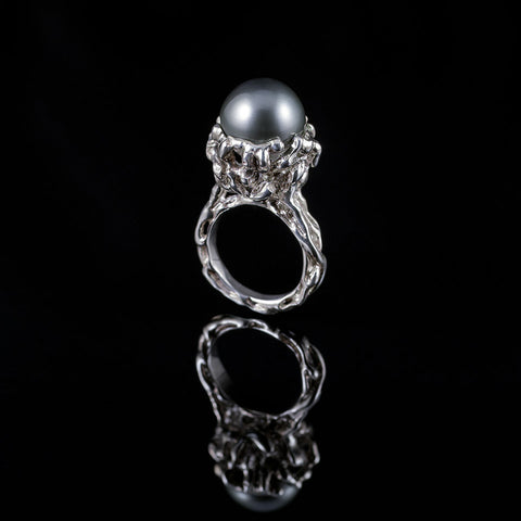 IMA a 13.5 mm Tahitian pearl set in sterling silver