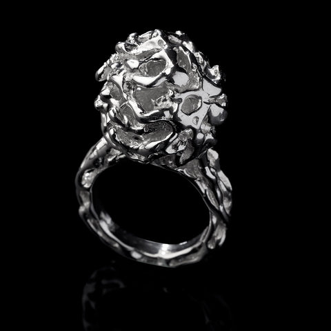 IMA Opportunity a sterling silver ring with a vine inspired texture