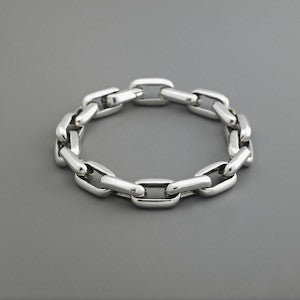 Open Link Chain Bracelet w Textured or alternating plain links