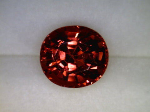 Spinel (peach-orange-red), Sri Lanka/Ceylon, oval cut, 1.80cts Dimensions: 7.3x6.6x5.1mm