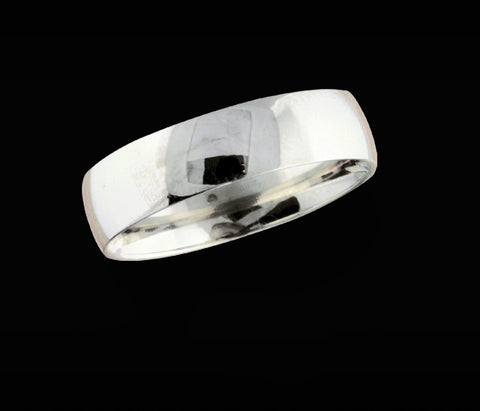Men's 6mm white gold wedding band