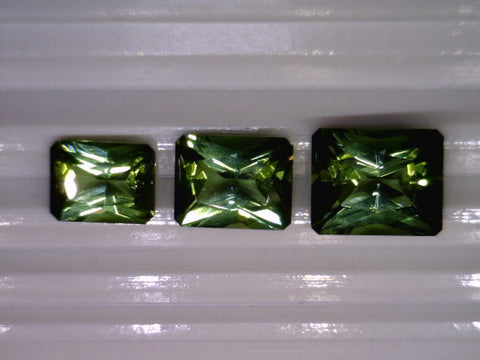 Tourmaline, Descending Suite of 3, Pakistan, Octagonal, 8,72cts (3pcs)